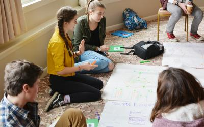 Teens work on system mapping